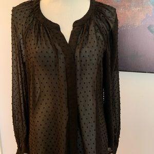 Lightweight blouse with dot texture